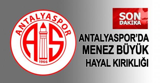 Antalyaspor'da Menez büyük hayal kırıklığı