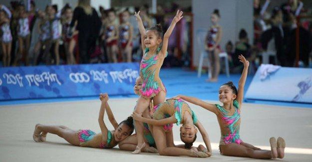 Cimnastikçiler  dördüncü oldu