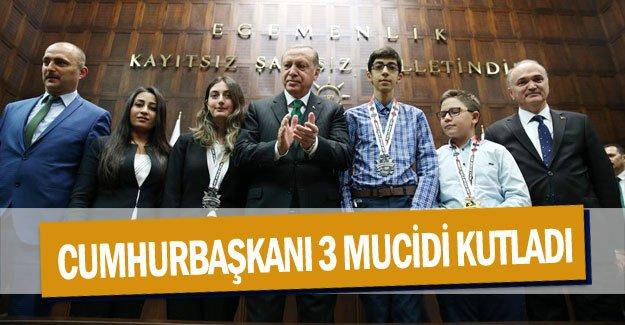 Cumhurbaşkanı 3 mucidi kutladı