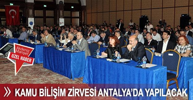 Kamu Bilişim Zirvesi Antalya'da yapılacak
