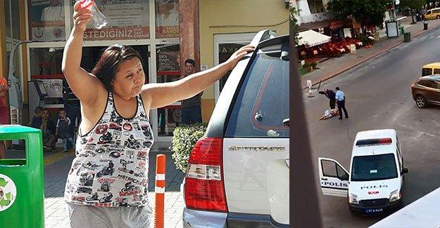 Kırgız kadını döven polis tahliye edildi