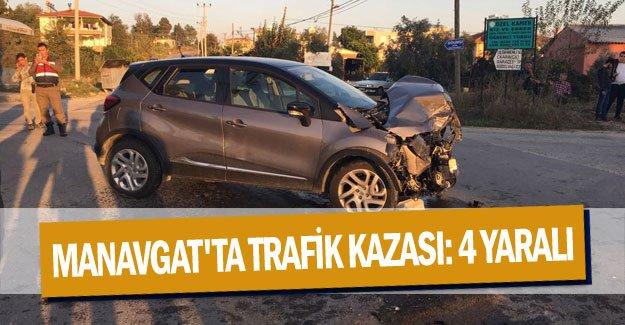 Manavgat'ta trafik kazası: 4 yaralı