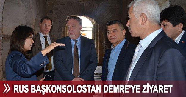 Rus başkonsolostan Demre'ye ziyaret