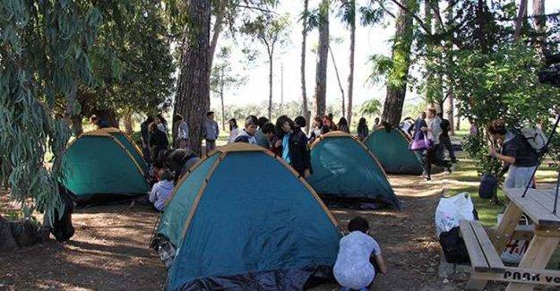 Zeytinpark'ta kamp