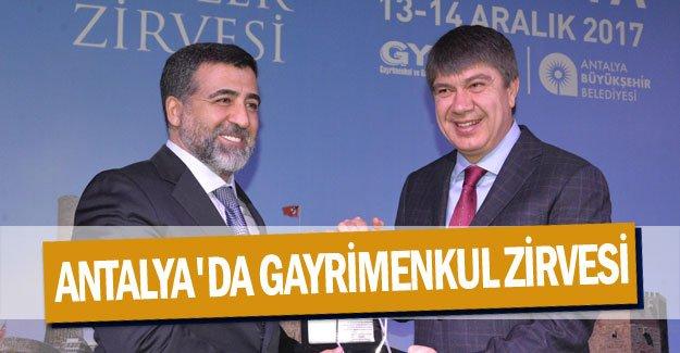 Antalya'da gayrimenkul zirvesi