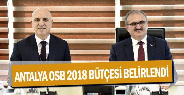 Antalya OSB 2018 bütçesi belirlendi