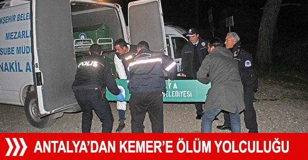 Antalya'dan Kemer'e ölüm yolculuğu