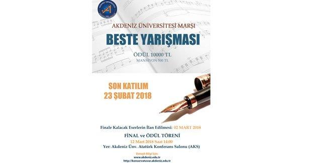 AÜ Marşı için beste yarışması