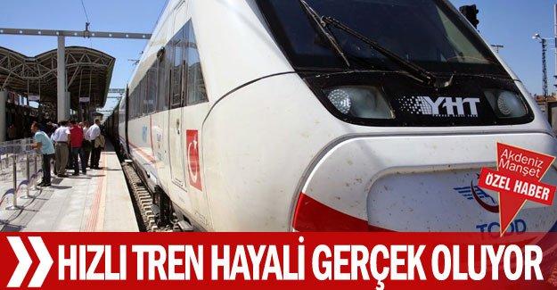 Hızlı tren hayali  gerçek oluyor