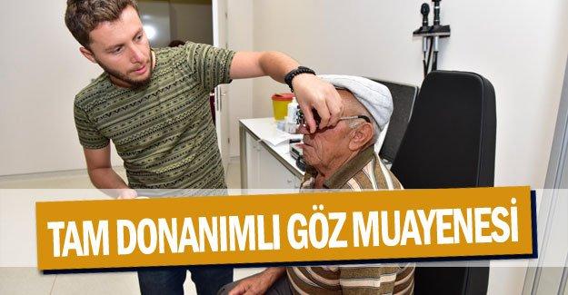 Kepez'de tam donanımlı göz muayenesi