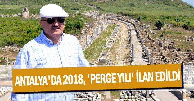Antalya'da 2018, 'Perge yılı' ilan edildi