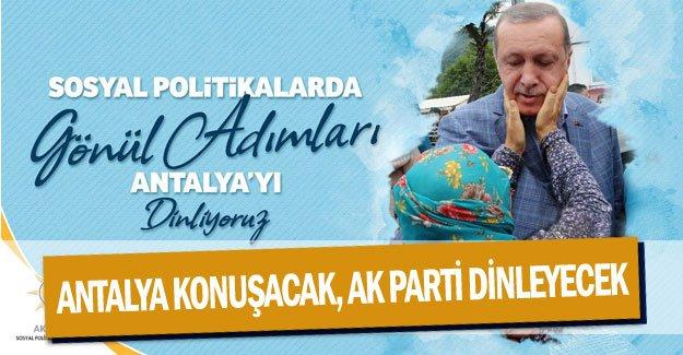 Antalya konuşacak, AK Parti dinleyecek