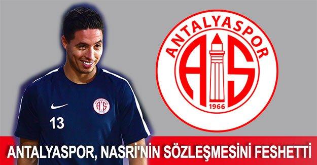 Antalyaspor, Nasri'nin sözleşmesini feshetti