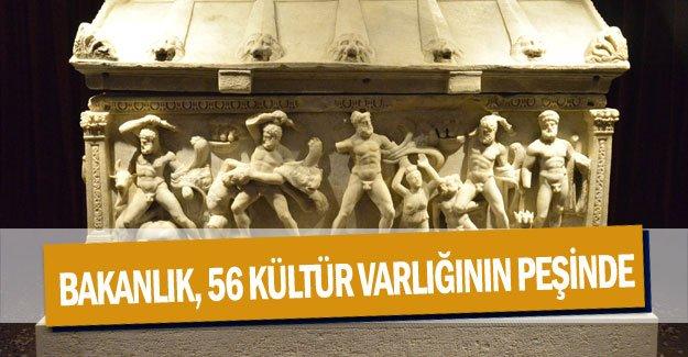 Bakanlık, 56 kültür varlığının peşinde
