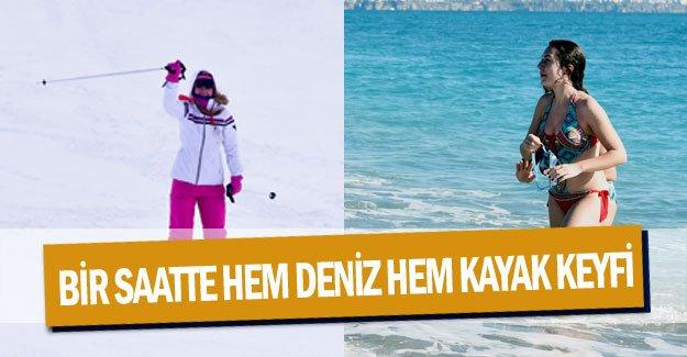 Bir saatte hem deniz hem kayak keyfi