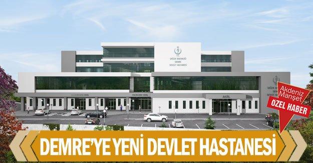 Demre'ye yeni devlet hastanesi