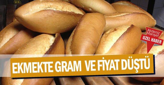Ekmekte gram  ve fiyat düştü