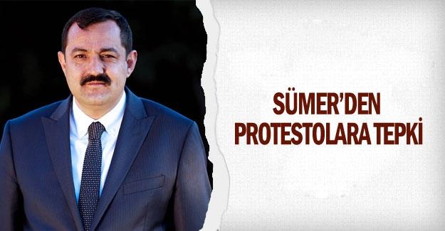 Sümer'den  protestolara tepki