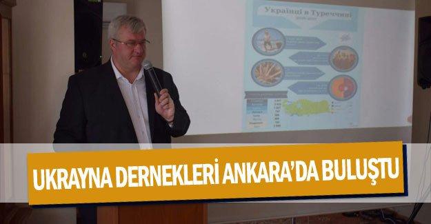 Ukrayna dernekleri Ankara'da buluştu