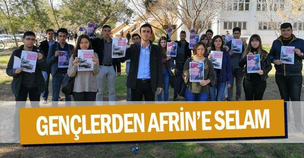 Gençlerden Afrin'e selam