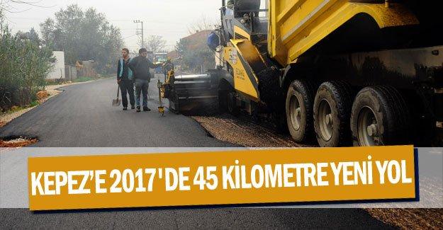Kepez'e 2017'de 45 kilometre yeni yol