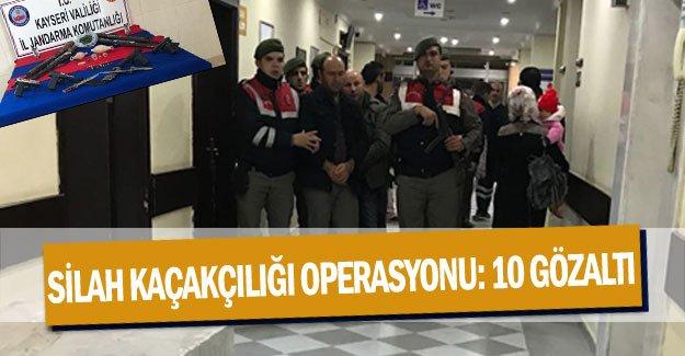 Silah kaçakçılığı operasyonu: 10 gözaltı