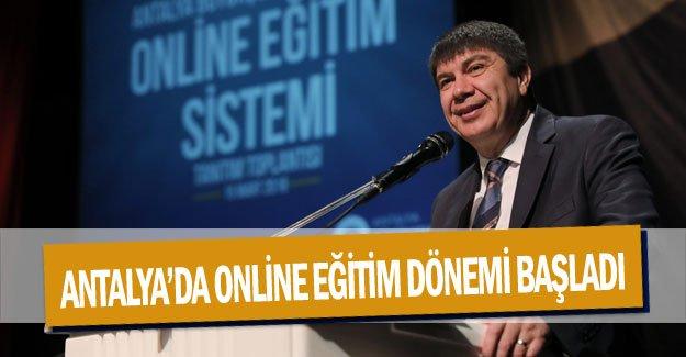 Antalya'da online eğitim dönemi