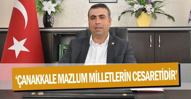 'Çanakkale mazlum milletlerin cesaretidir'