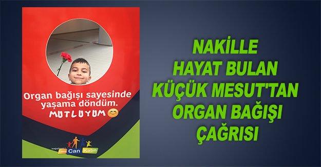 Küçük Mesut'tan organ bağışı çağrısı