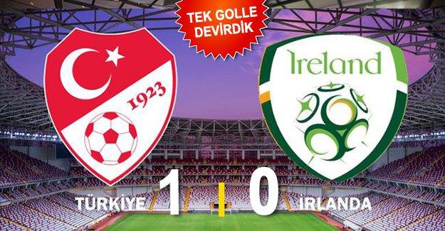 Türkiye: 1 - İrlanda Cumhuriyeti: 0