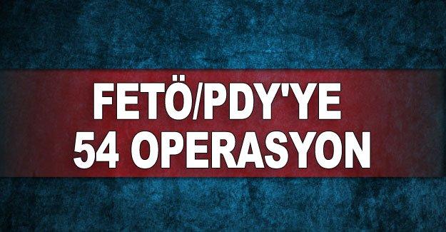 Antalya'da FETÖ/PDY'ye 54 operasyon