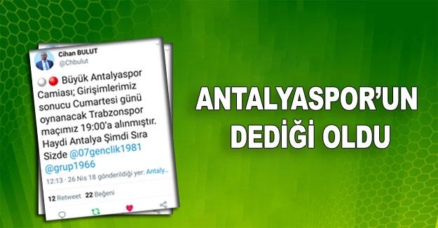 Antalyaspor'un dediği oldu