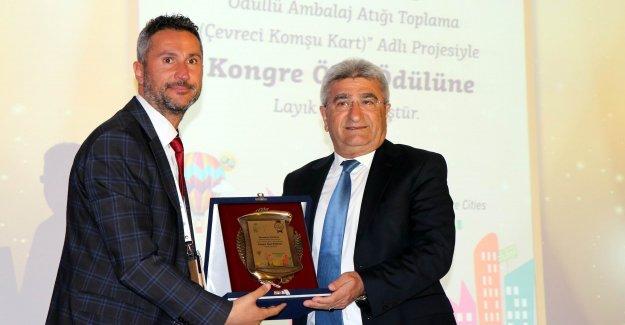Çevreci Komşu Kart'a  kongre özel ödülü