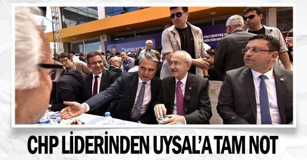 CHP liderinden Uysal'a tam not