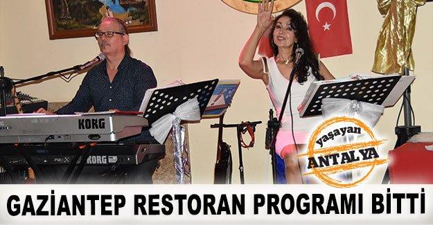 Gaziantep Restoran Programı bitti