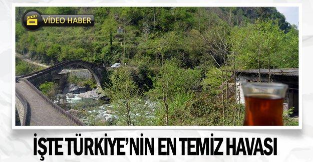 İşte Türkiye'nin en temiz havası