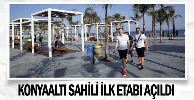Konyaaltı Sahili ilk etabı açıldı