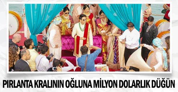 Pırlanta kralının oğluna milyon dolarlık düğün