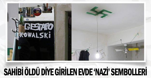 Sahibi öldü diye girilen evde 'Nazi' sembolleri