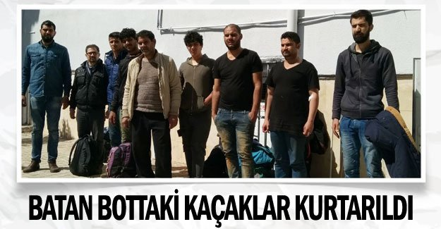 Batan bottaki kaçaklar kurtarıldı