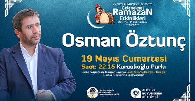 Halk ozanı Osman Öztunç  Antalyalılarla buluşuyor