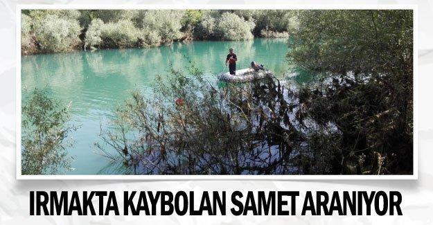 Irmakta kaybolan Samet aranıyor