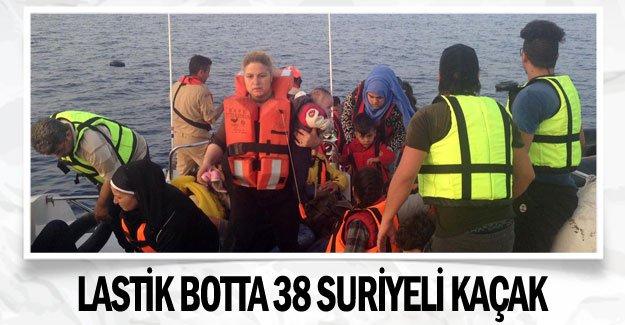 Lastik botta 38 Suriyeli kaçak