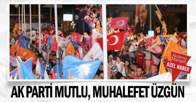 AK Parti mutlu,  muhalefet üzgün