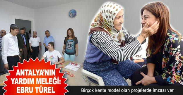 Antalya'nın yardım meleği: Ebru Türel