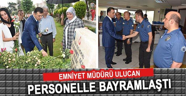 Emniyet Müdürü Ulucan  personelle bayramlaştı