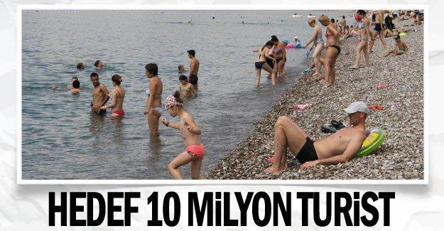 Hedef 10 milyon turist