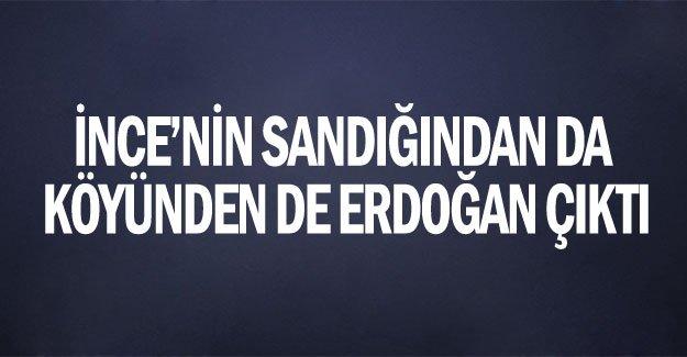İnce'nin sandığından da köyünden de Erdoğan çıktı