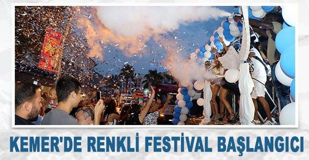 Kemer'de renkli festival başlangıcı