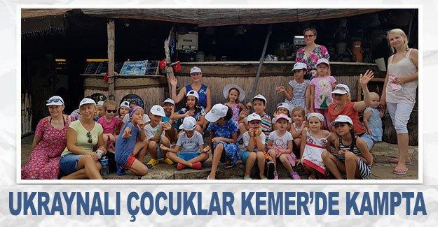 Ukraynalı çocuklar Kemer'de kampta